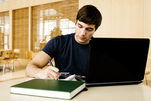 Teenager Studying